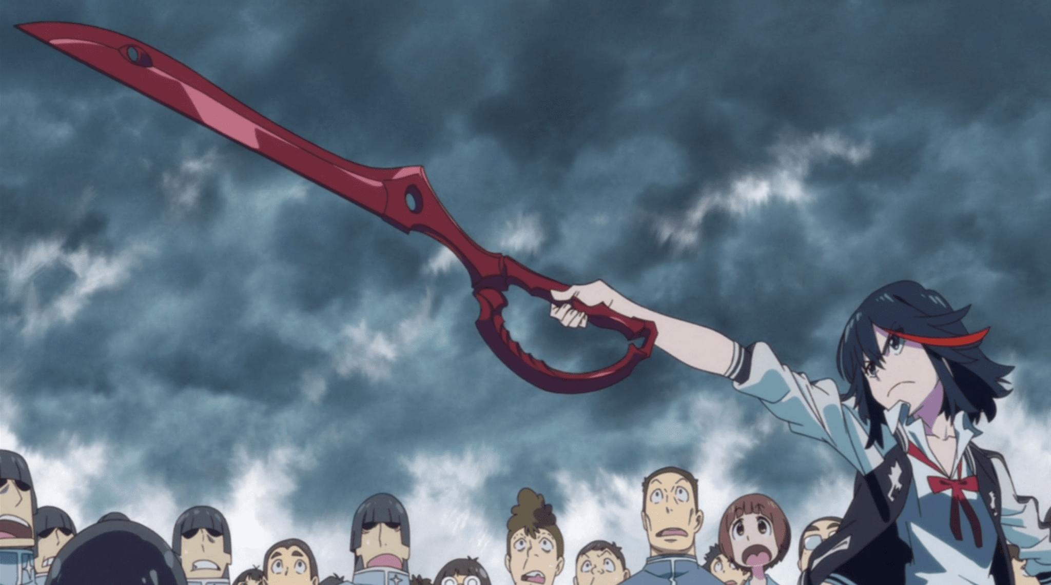 Ryuko Matoi holding her scissor blade