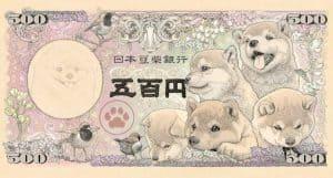 shiba-inu-banknote 500 yan